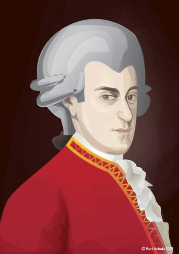 Mozart Biography Cartoon | mozart by achatz famous people cartoon toonpool
