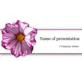 free purple flower powerpoint template for