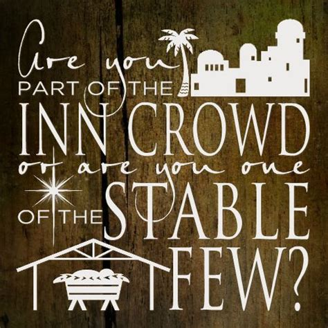 few lines on christmas are you part of the inn crowd or the stable few vinyls stables and