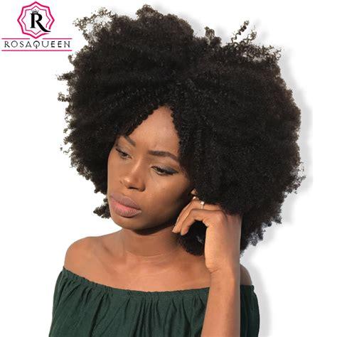 hair dye for kinky hair com aliexpress com buy mongolian afro kinky curly hair weave
