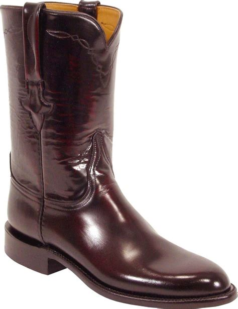 lucchese roper boots lucchese classics l3505 mens black cherry goat roper boots