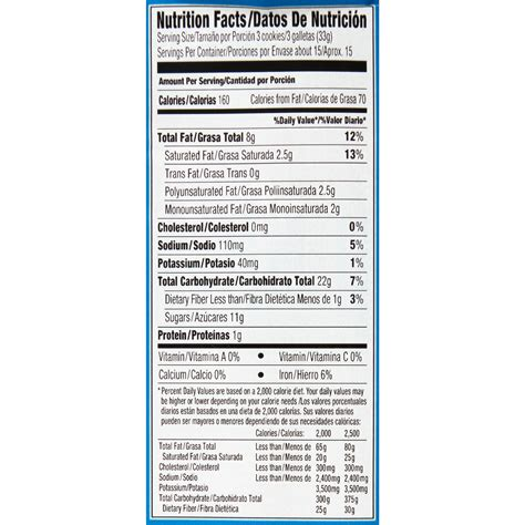 hot chips nutritional information chips ahoy nutrition nutrition ftempo