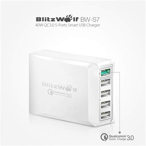 Kabel Micro Usb L Shape Gc 45 blitzwolf charger usb 5 port charger 3 0 4 4a bw