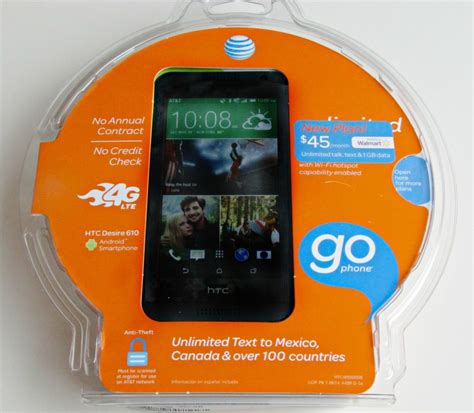att go phone from walmart with exclusive rate plan