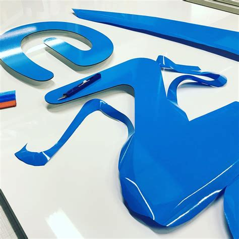 metamark printable vinyl stand off lettering mounted to aluminium tray sign