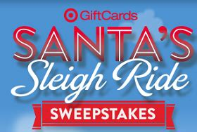 Target Contests Sweepstakes - target santa s sleigh ride 25 gift card instant win game 1 500 winners