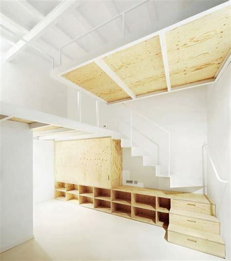 Bedroom Storage Stairs Split Level Loft Suspended Bedroom Stair Storage
