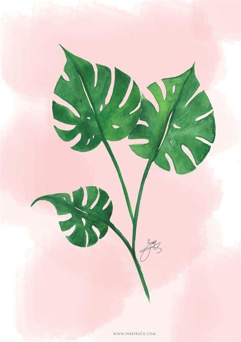 Blumen Deko Ideen 4601 by Free Watercolor Tropical Leaf Printable