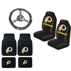 Nfl Seat Covers For Trucks Nfl Washington Redskins Car Truck Steering Wheel Cover