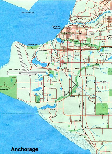 anchorage usa map anchorage city map afputra
