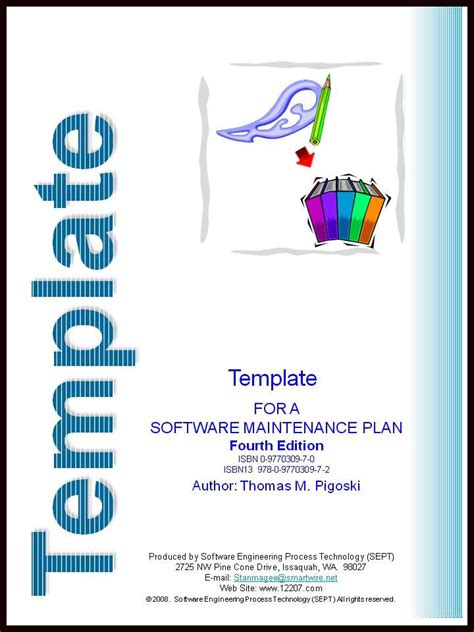 Template For A Software Maintenance Plan Fourth Edition Software Maintenance Plan Template