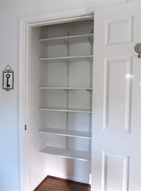 Lining Closet Shelves linen closet great idea for adjustable shelving
