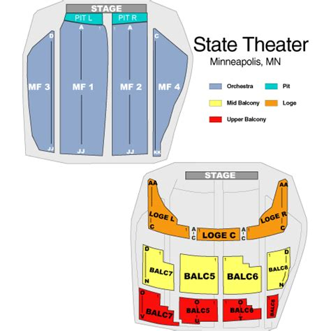state theater mn seating chart oliver october 12 tickets minneapolis state theatre