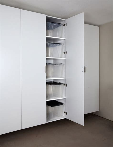 tall white storage cabinet with doors long island new york garage cabinets storage organization