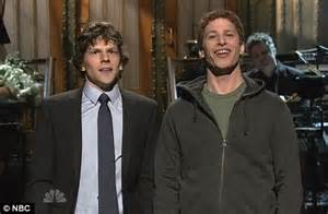 mark zuckerberg and jesse eisenberg come facebook to face