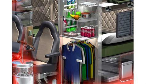 Peterbilt 379 Interior 3d Peterbilt 379 Sleeper Cutaway 169 Acme 3d Com