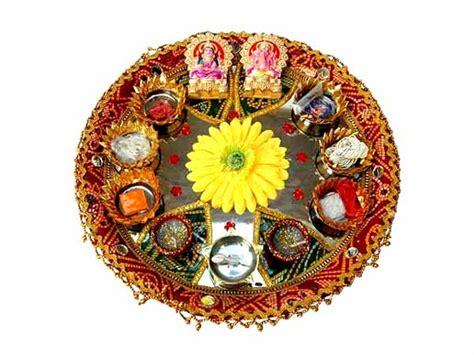 puja thali decoration   decorate pooja thali