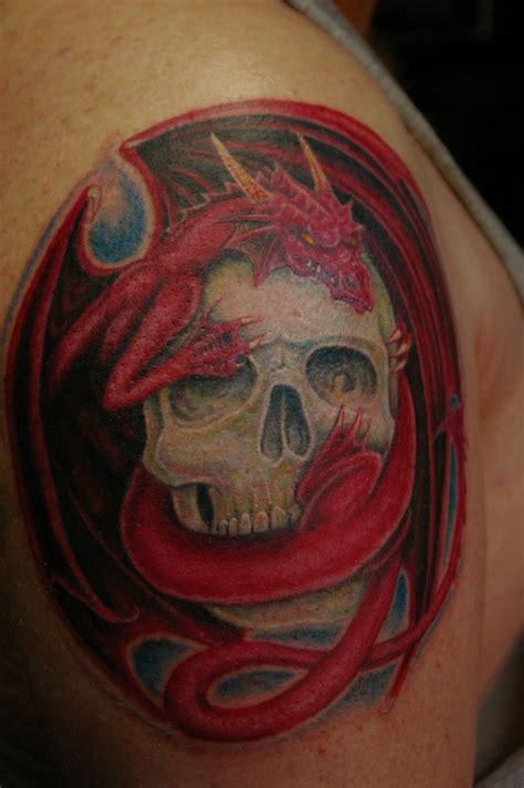 tattoo dragon and skull dragon skull tattoo by donaldpurvis on deviantart