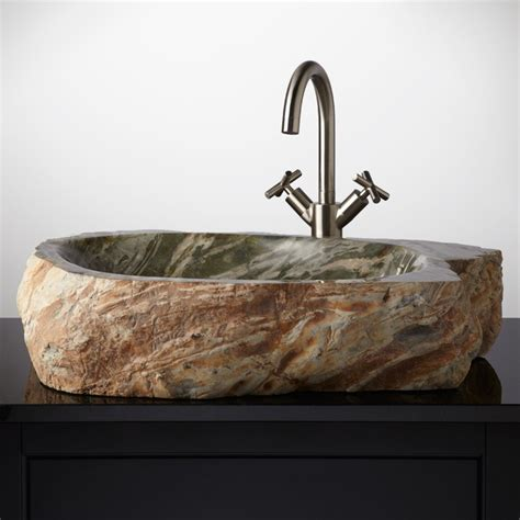 stone vessel sinks for bathrooms 17 best images about unique sinks faucets on pinterest