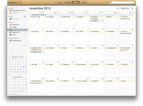 Calendrier Iphone Calendrier Mac Iphone Et Ajouter F 234 Tes Saints