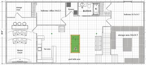 10x18 dedicater theater possible basement layout picture