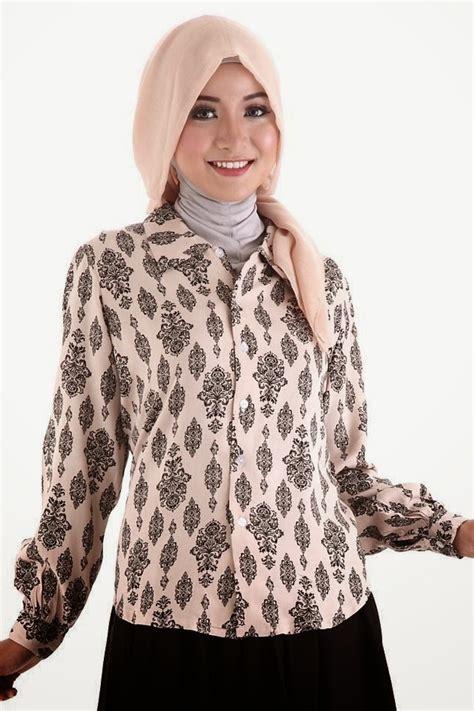 Baju Batik Wanita Karier 21 model baju batik muslim terbaru untuk kerja 2017 1000 contoh model baju batik terbaru 2017