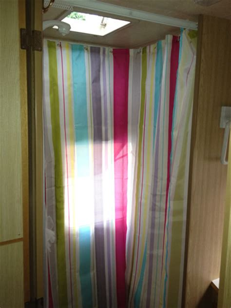 curtains for cervans what plastic to line shower cubicle caravan chat