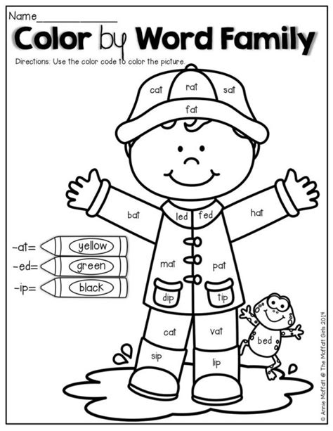 Word Family Worksheets Kindergarten by 25 Best Ideas About Word Family Activities On