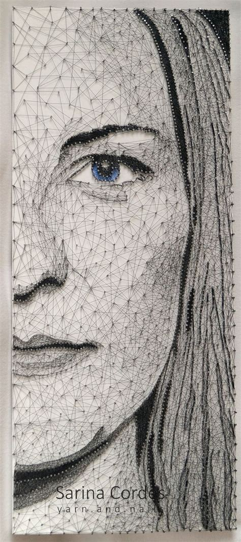 String Portrait - 17 best images about string by yarn and nails on