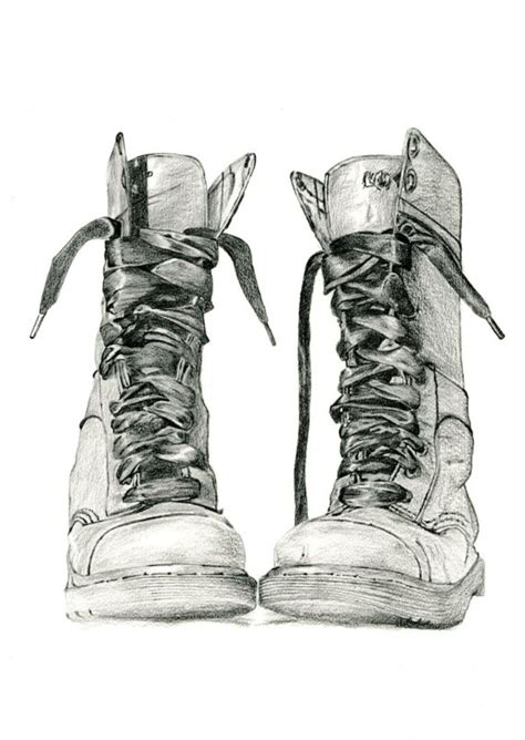 items similar to pencil drawing of doc marten boots study