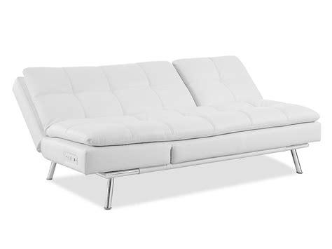 white convertible sofa palermo convertible sofa white by serta lifestyle