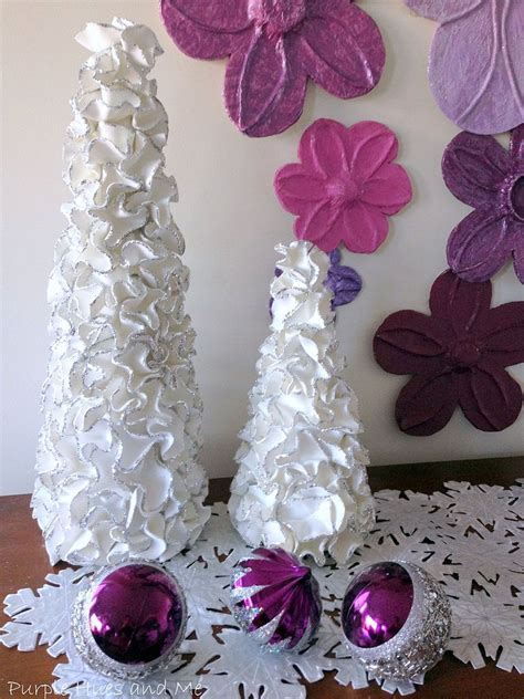 diy decorations crafts hometalk ruffled foam sheets glitter tree cones diy