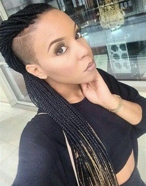 short braids on shaved head 25 best ideas about shaved sides on pinterest short