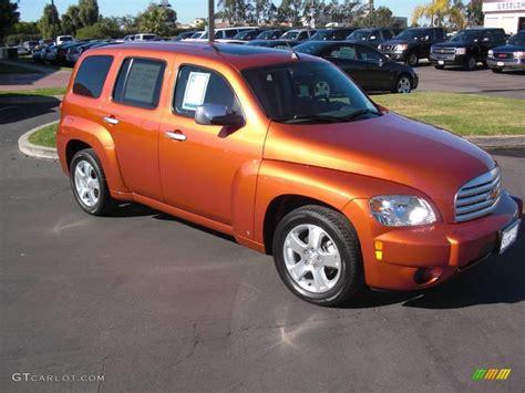 2007 sunburst orange ii metallic chevrolet hhr lt