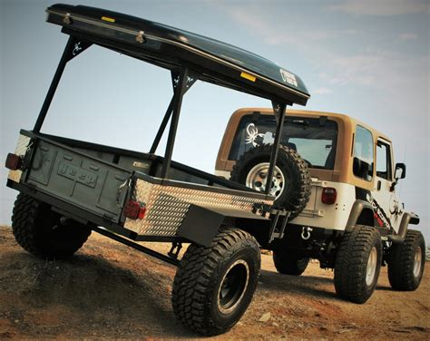 jeep offroad trailer 4x4 off road trailer black scorpion off road bigfoot