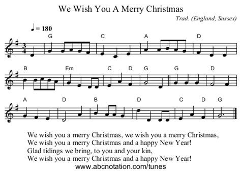 merry christmas staff notation  ed recorder merry christmas merry