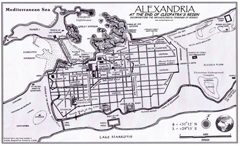 map of alexandria map of cleopatra s alexandria michael livingston