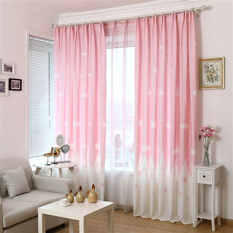 myru blue castle shade cloth curtain childrens bedroom pink blue cartoon castle shade blinds window blackout