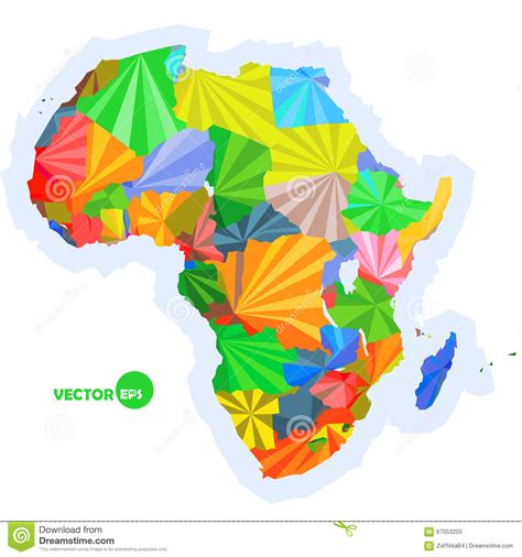 africa map design map of africa concept map with countries colorful africa