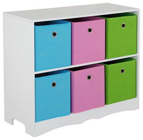 storage shelf with 6 bins contemporary storage