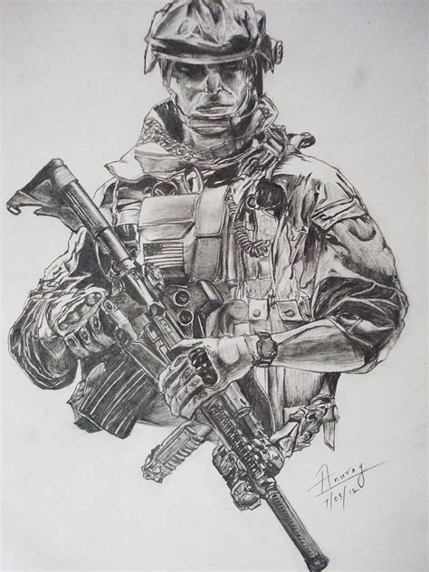 the warrior drawing by anurag aggarwal