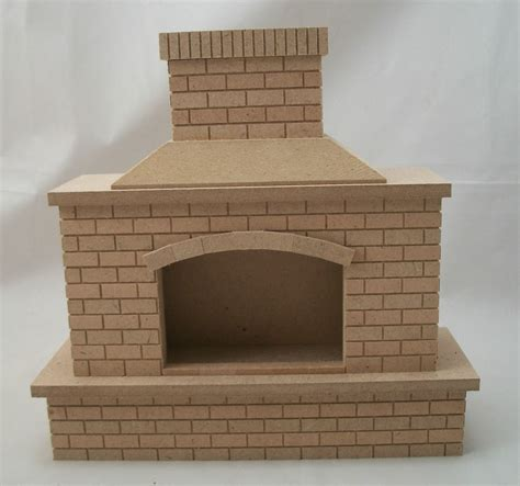 outside doll houses fireplace outdoor brick 2409 dollhouse miniature 1 12 scale houseworks wood ebay