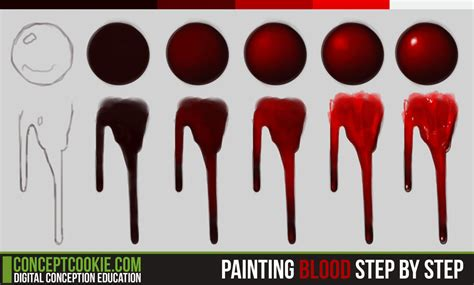 painting blood step by step by cgcookie on deviantart