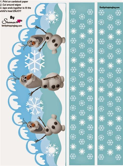 printable frozen hats frozen olaf free printable crown car interior design