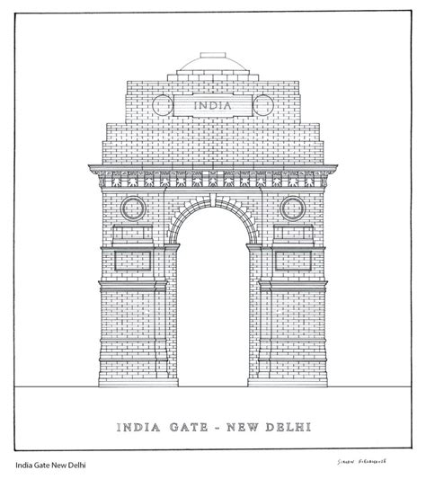 coloring pages of india gate gate in delhi colouring pages sketch coloring page