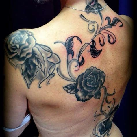 rose tattoo with vines 36 vine tattoos flower vines