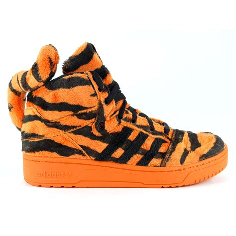 adidas originals jeremy scott tiger orangeblack shoes