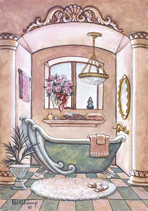 bathtub paintings vintage bathtub ii one of janet krusk s original oil