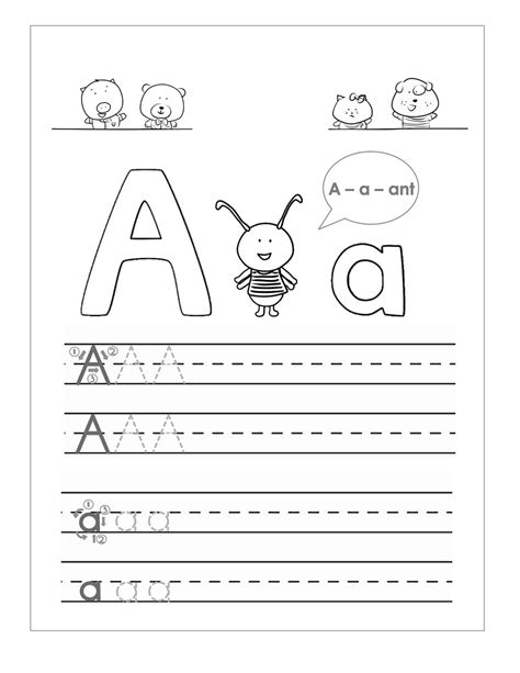 lots and lots of letter tracing practice tracing the letter a free printable activity shelter