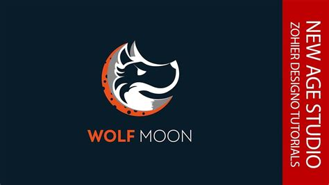 illustrator tutorial wolf illustrator cc tutorial i logo wolf moon i 2017 youtube